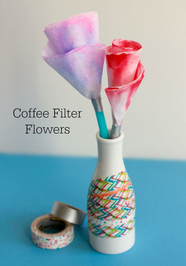 Create a coffee filter flower bouquet