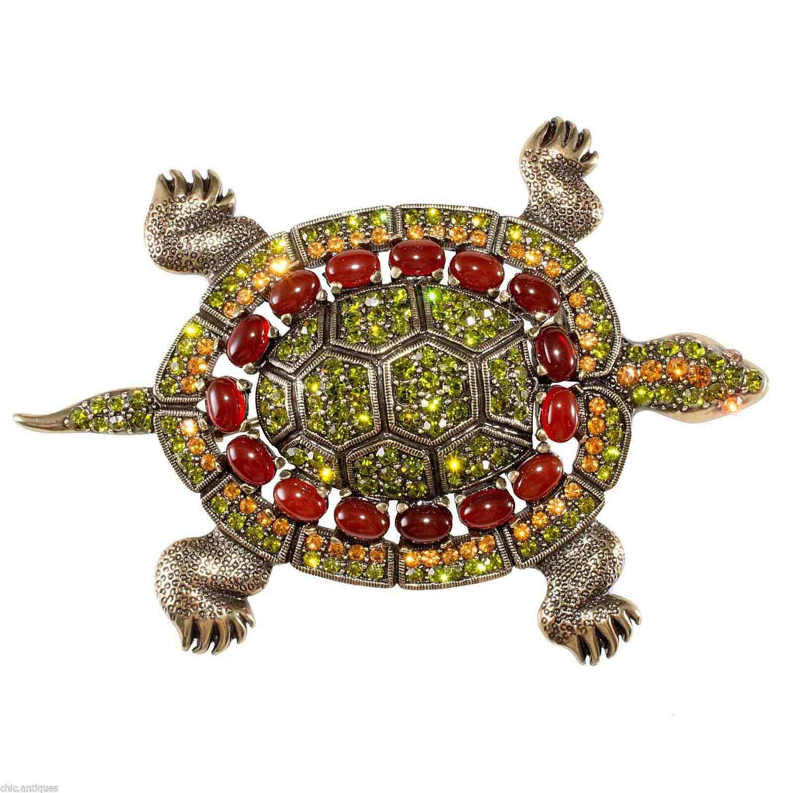 Heidi Daus Turtle Brooch, Made in China