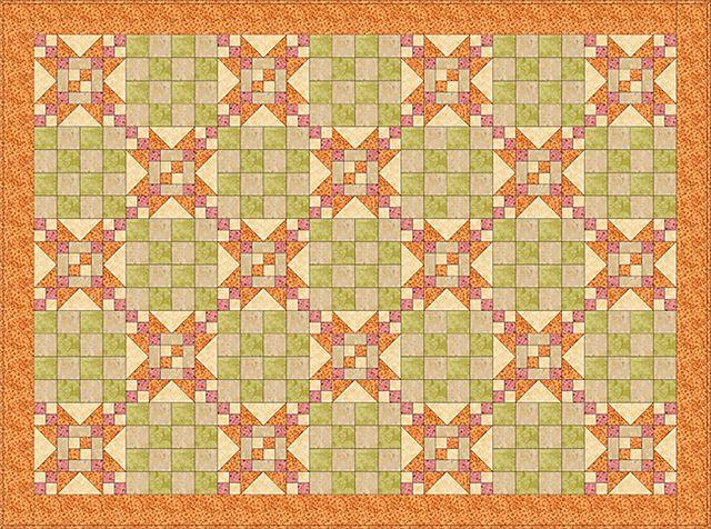 Sawtooth Stars Quilt Pattern