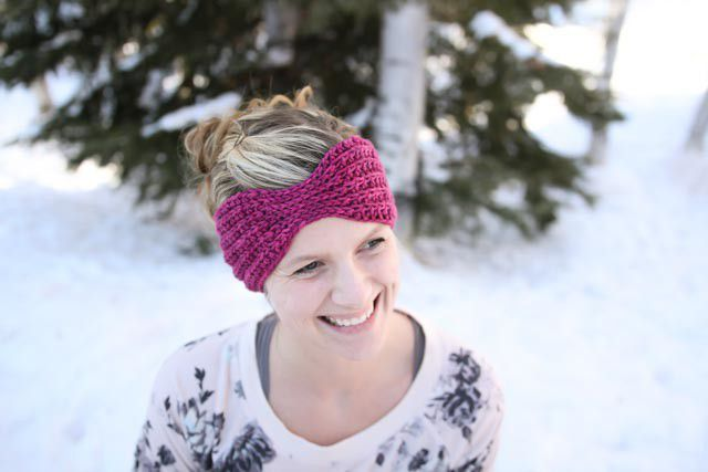 Bow Head Wrap Free Crochet Pattern