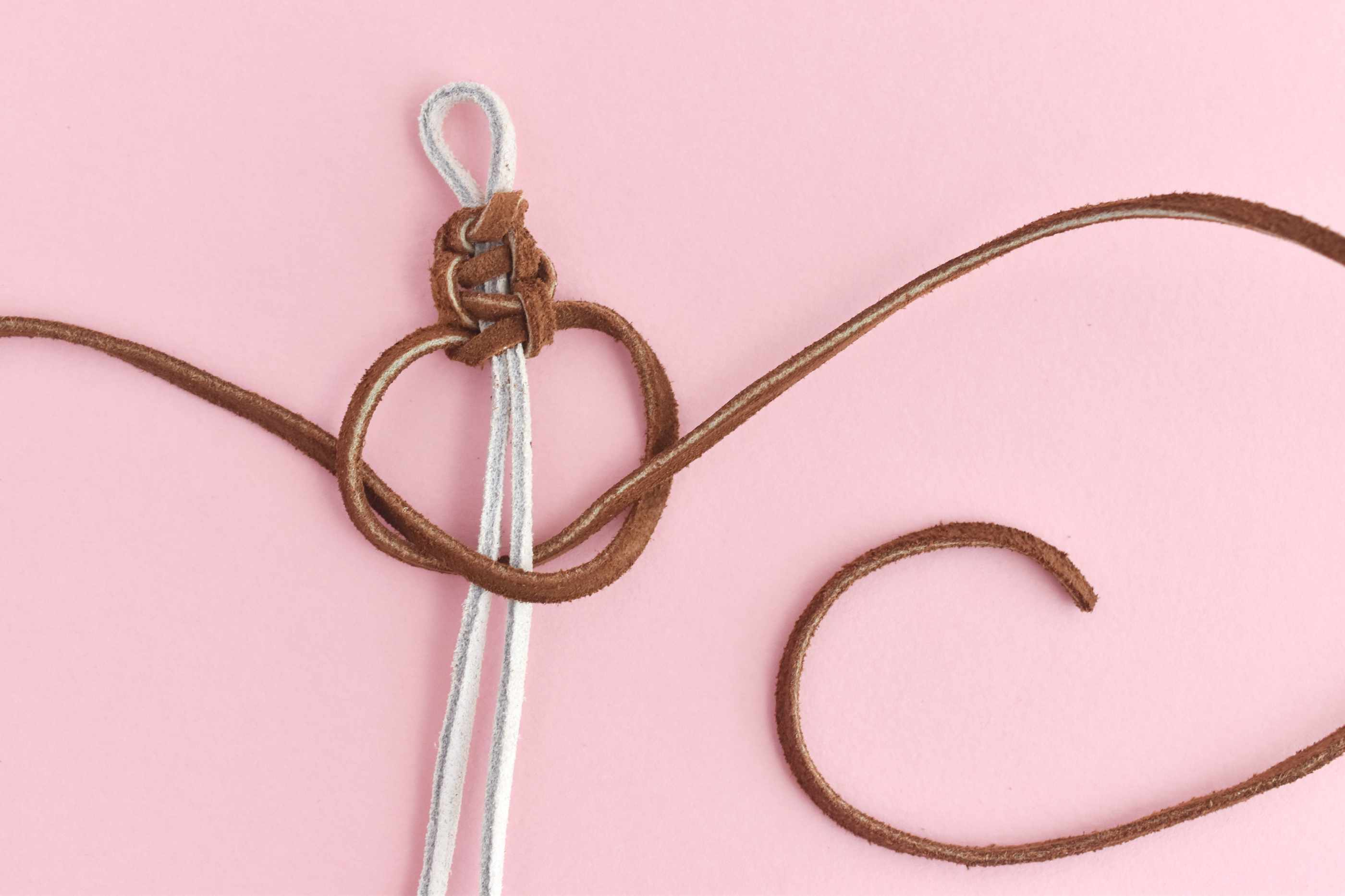 Bring the Left Strand Through the Right Loop to Finish the Knot