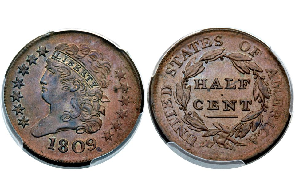 Classic Head half cent obverse and reverse