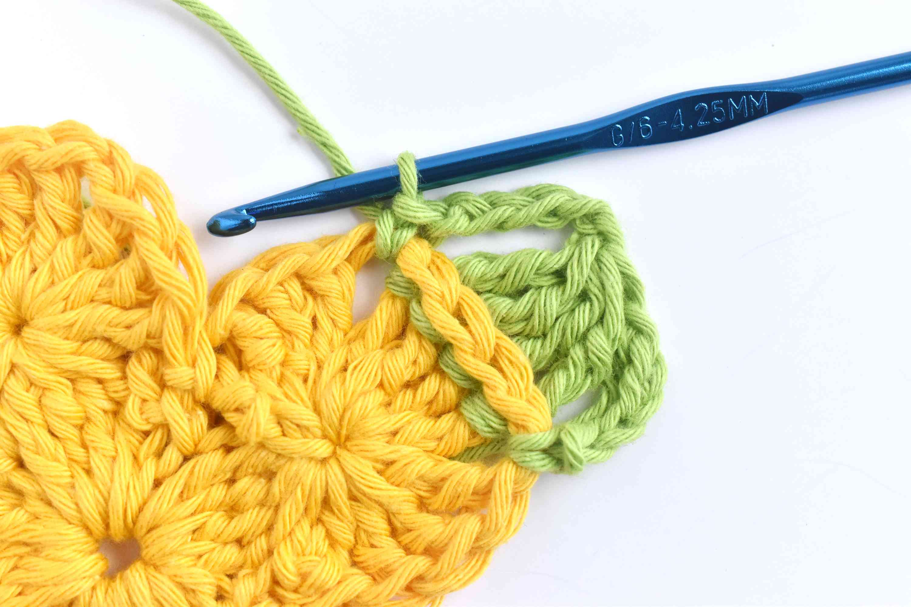 Chain 5 and Single Crochet in the Chain 1 Space