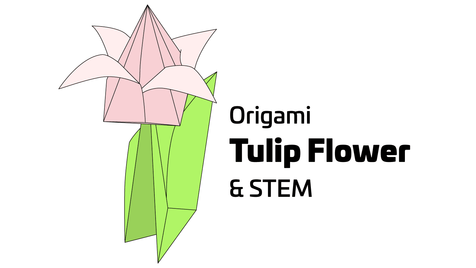 Easy Origami Tulip Craft for Kids - Artsy Craftsy Mom | 900x1600