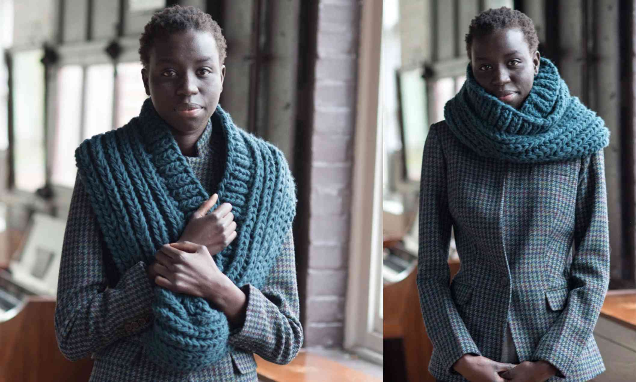 The 90 Degrees Cowl Knitting Pattern