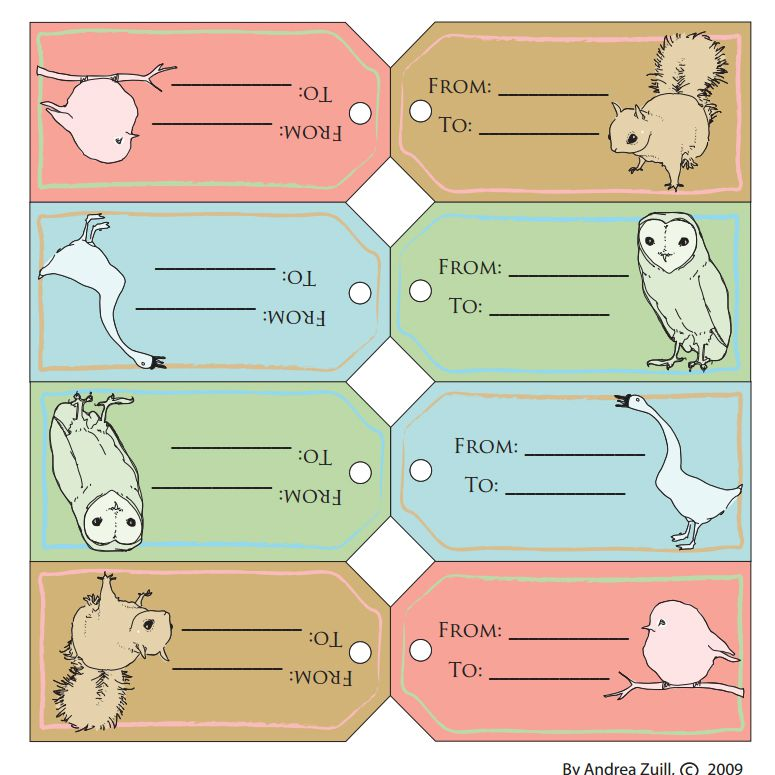 8 Free Printable Gift Tags With Animals On Them