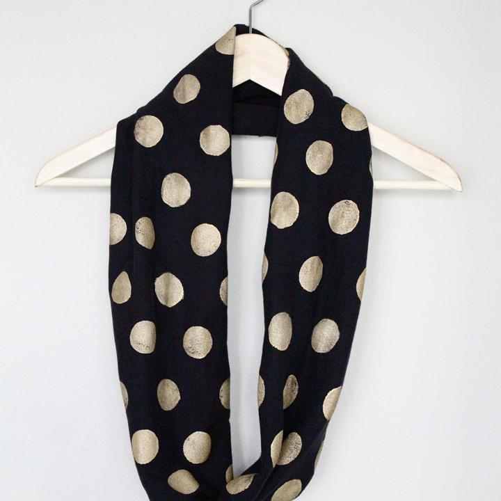 diy no sew infinity scarf