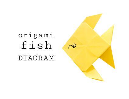 Traditional Origami Fish Diagram