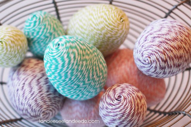 DIY Bakers Twine Wrapped Easter Eggs