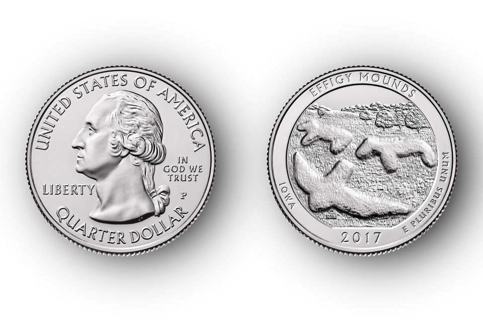 2017 Effigy Mounds America the Beautiful Quarter