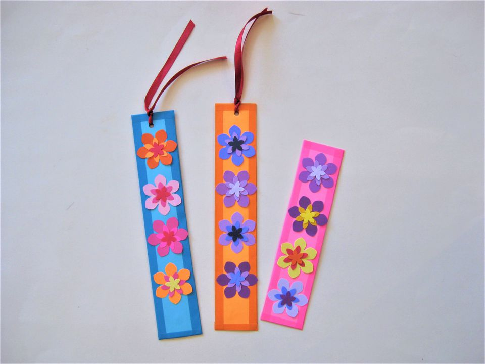 floral handmade bookmarks