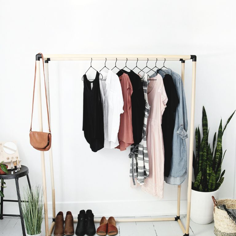 Wooden Dowel Clothing Rack