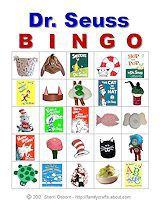 Printable Seuss Bingo