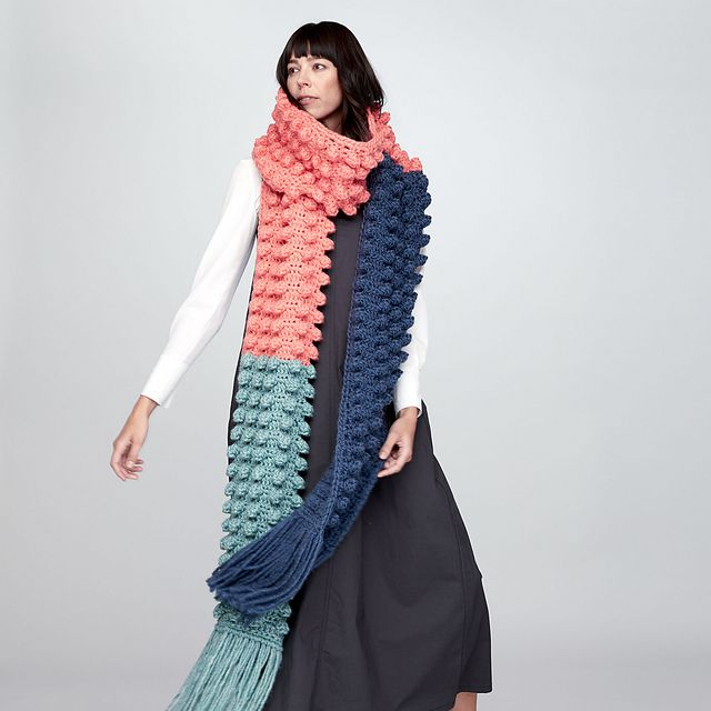 Bobble Scarf Free Crochet Pattern