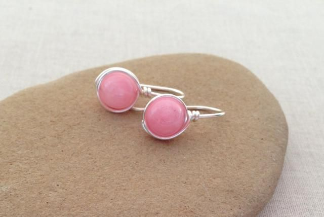 Make gemstone dangle earrings