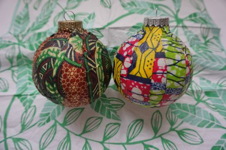 amazing diy african wax print ornaments for a global christmas tree - African Christmas Decorations