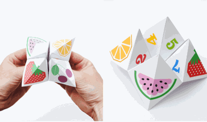 origami fortune teller and cootie catcher
