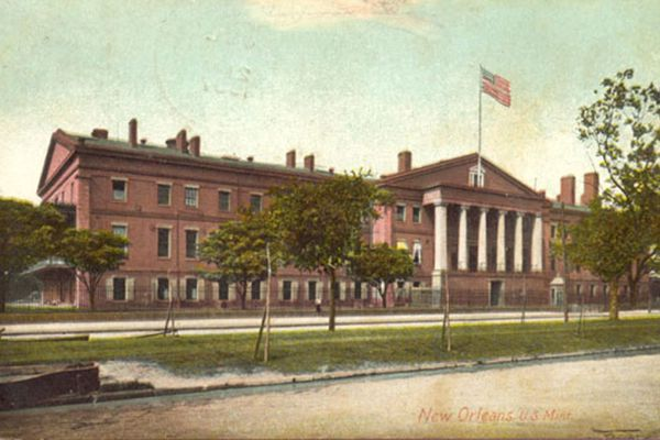 a photograph of the New Orleans mint circa 1907