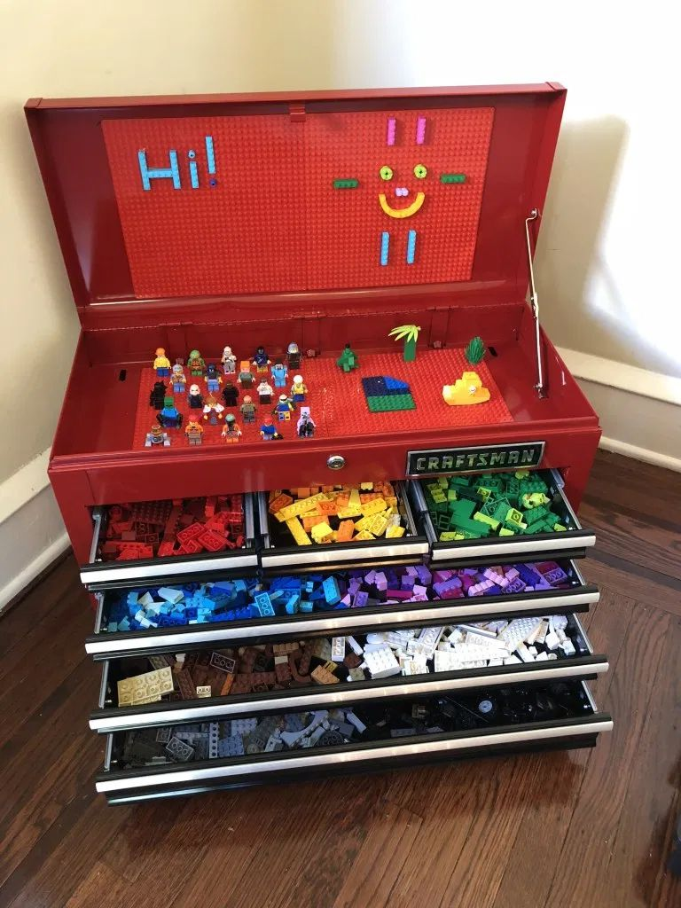 A tool chest full of LEGOs