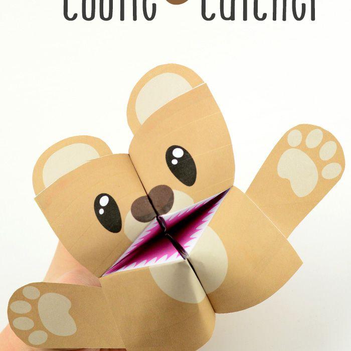 Teddy Bear Cootie Catcher