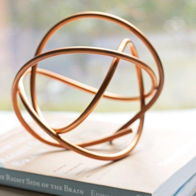 copper coil sculpture