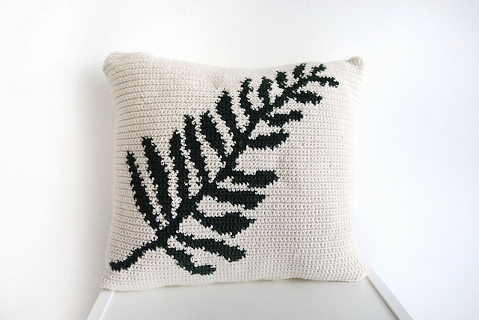 Tapestry Crochet Cushion Cover Free Pattern