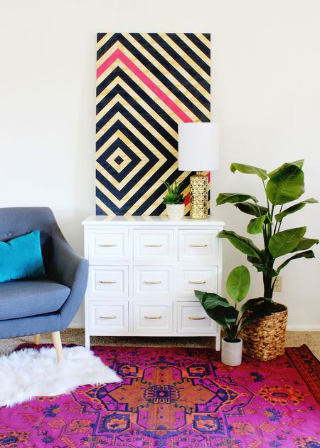 Home Decor Projects DIY Diamond Ripple Wall