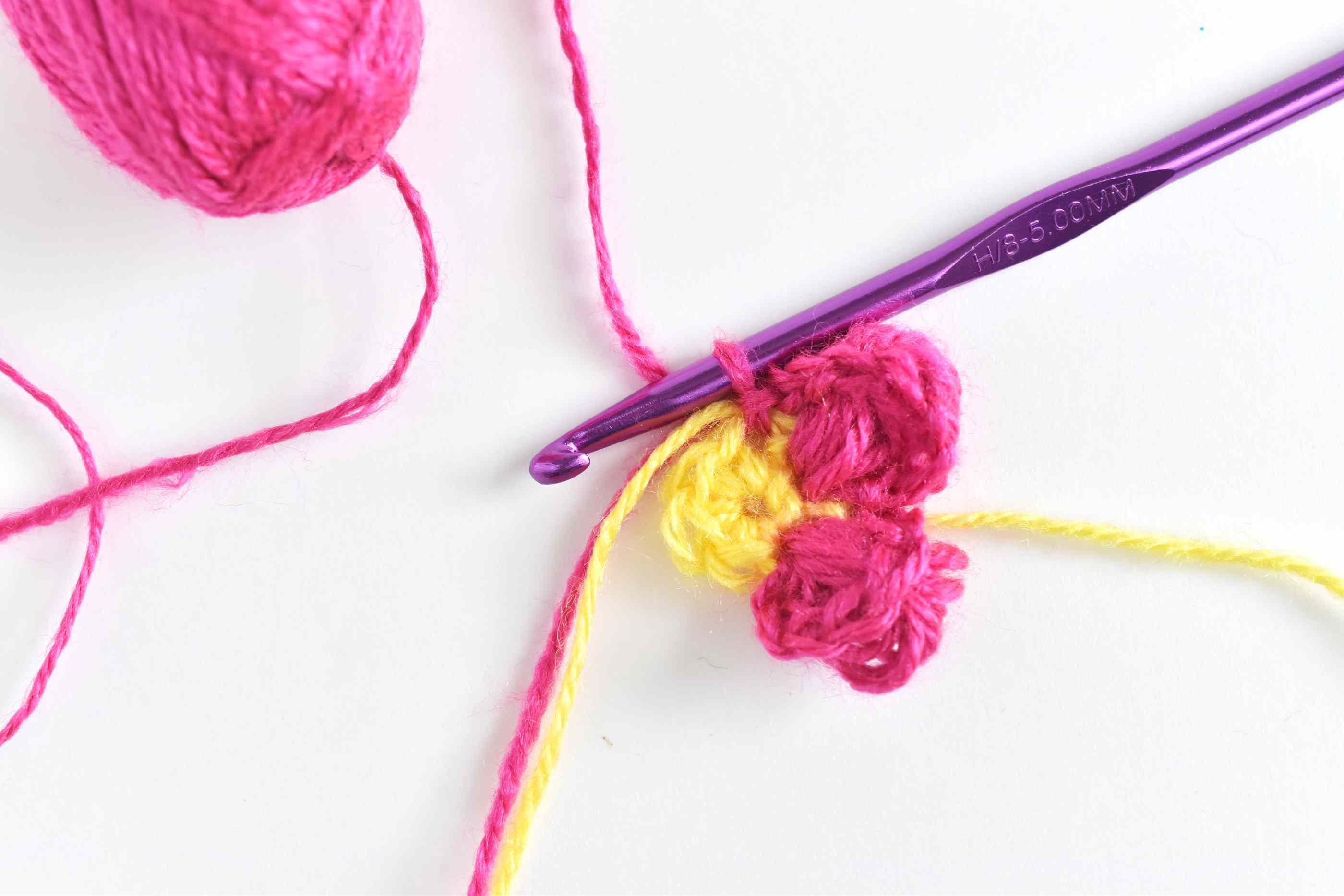 Add More Puff Stitch Petals