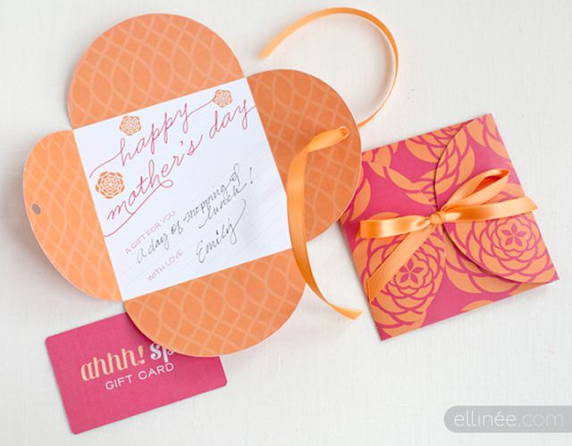DIY Floral Mother's Day Gift Card