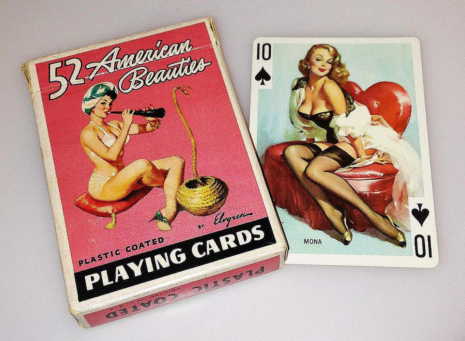 52 American beauties playing cards illustrated by Gil Elvgren