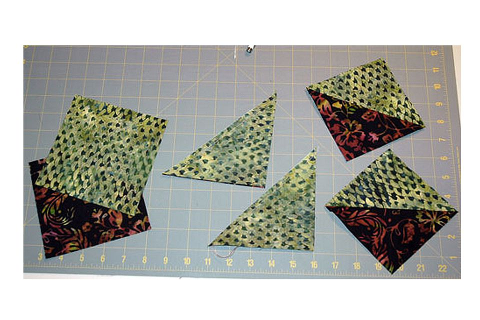 How to Make Half Square Triangles for Quilts