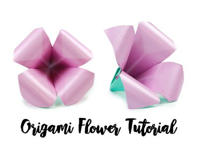 How to make a pretty origami blossom flower wow your friends and make an easy origami lily flower beginner origami mightylinksfo