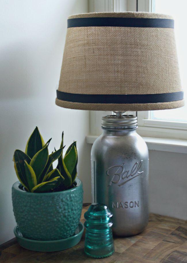 diy mason jar lamp idea