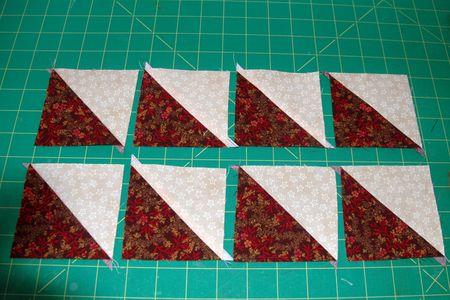 How To Make Magic 8 Half Square Triangle Units