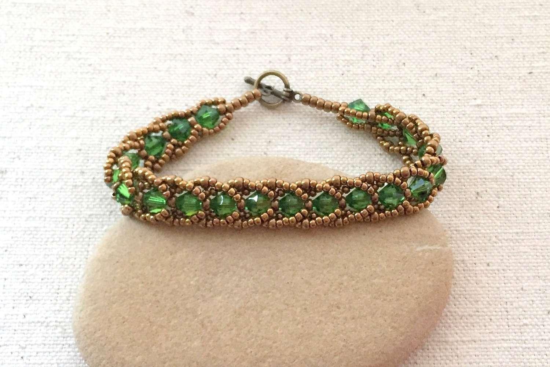 Flat Spiral Bracelet Tutorial