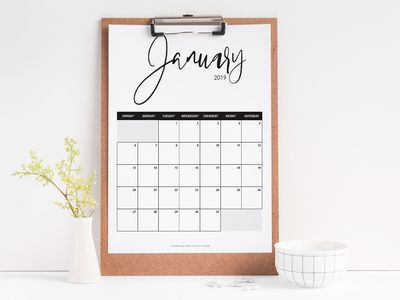 get organized in style with these free printable calendars for 2019 printables