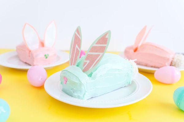 DIY bunny cake