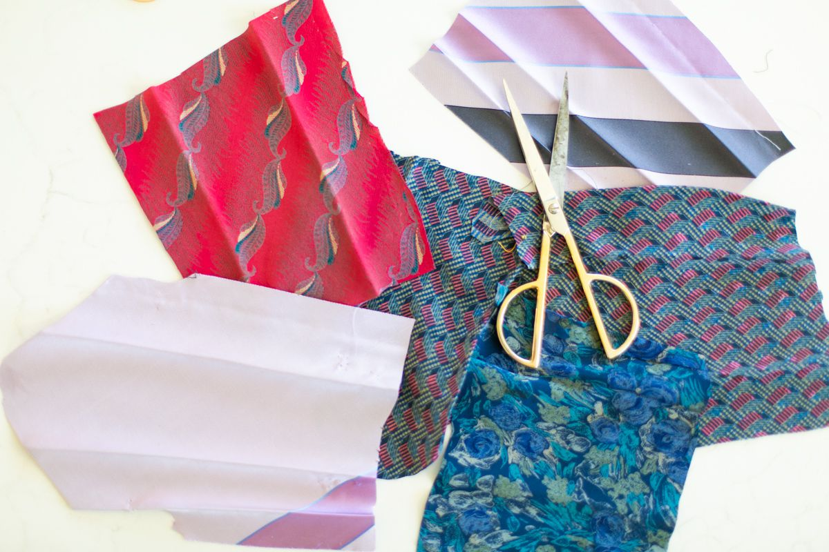 Silk squares for dyeing Easter eggs