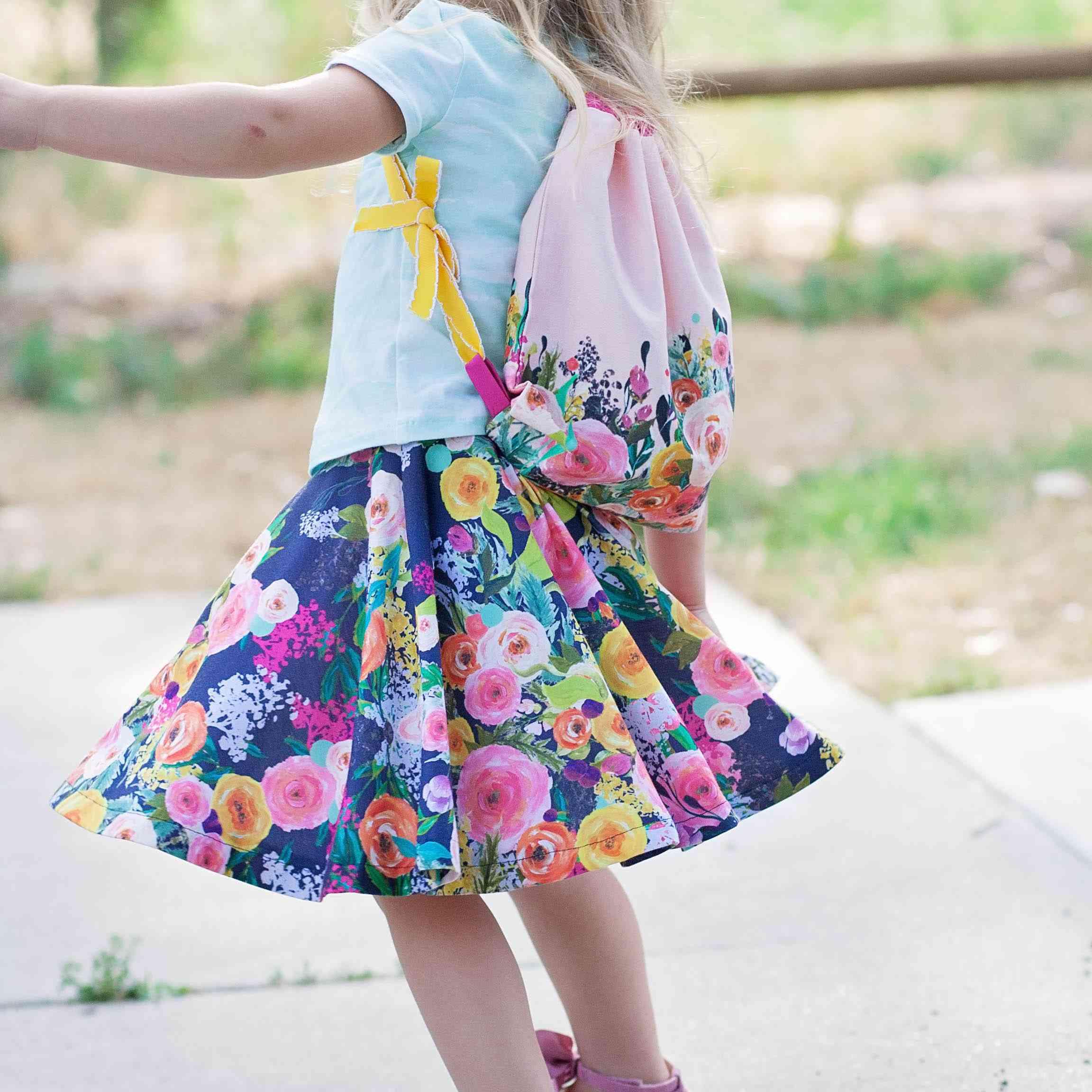 Back-To-School Kids Drawstring Backpack