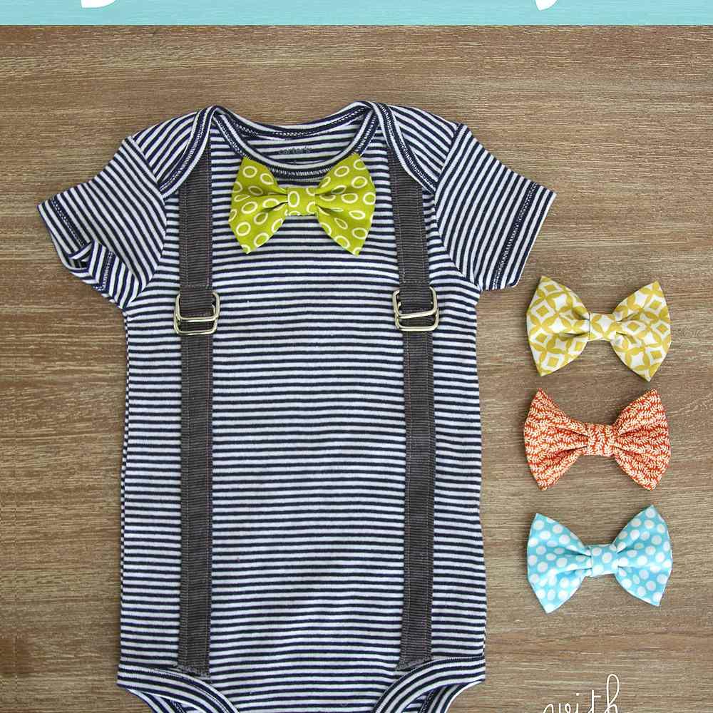 Interchangeable Bow Tie Onesie
