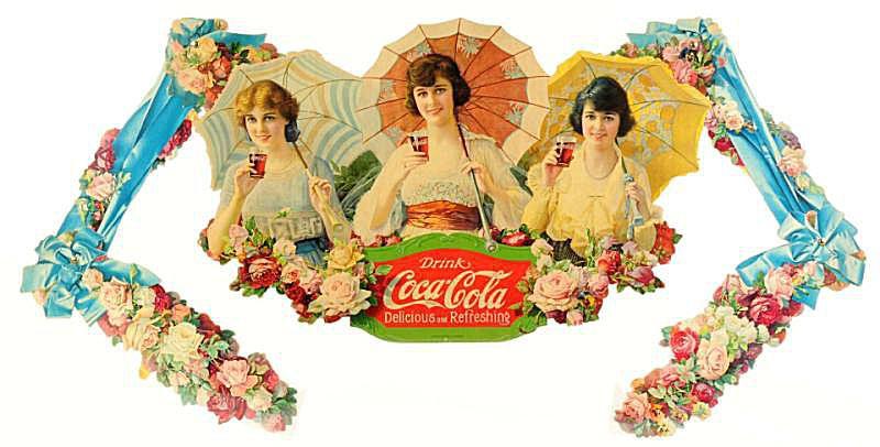 Coca-Cola Umbrella Girls Festoon Dating to 1918