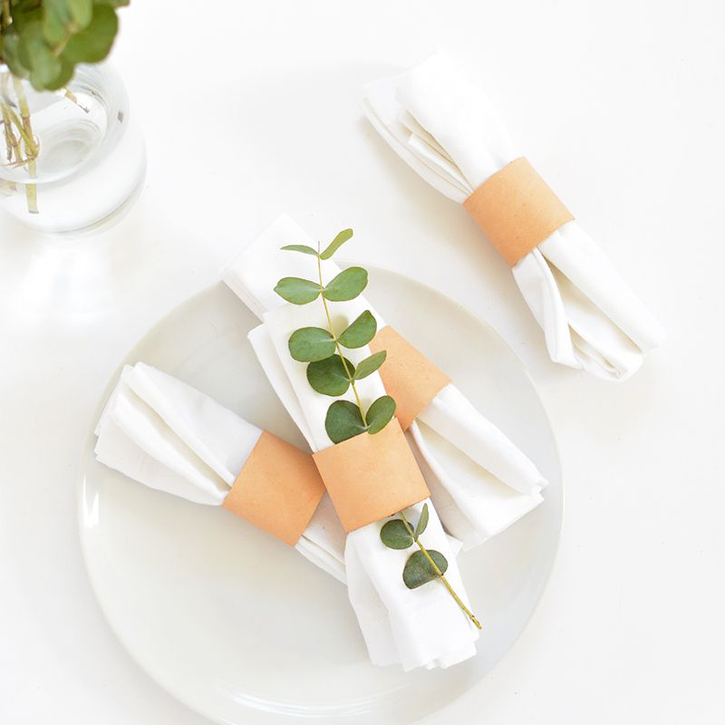 DIY Leather Napkin Rings