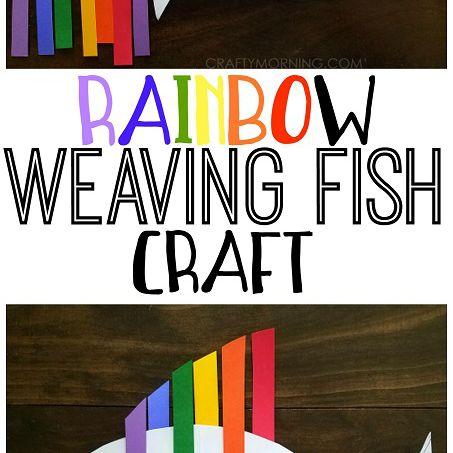 Woven rainbow fish