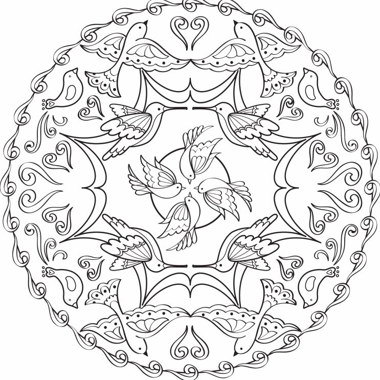 Beroemd Free, Printable Coloring Pages for Adults @IR57