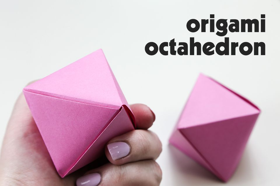 Origami Octahedron Decoration