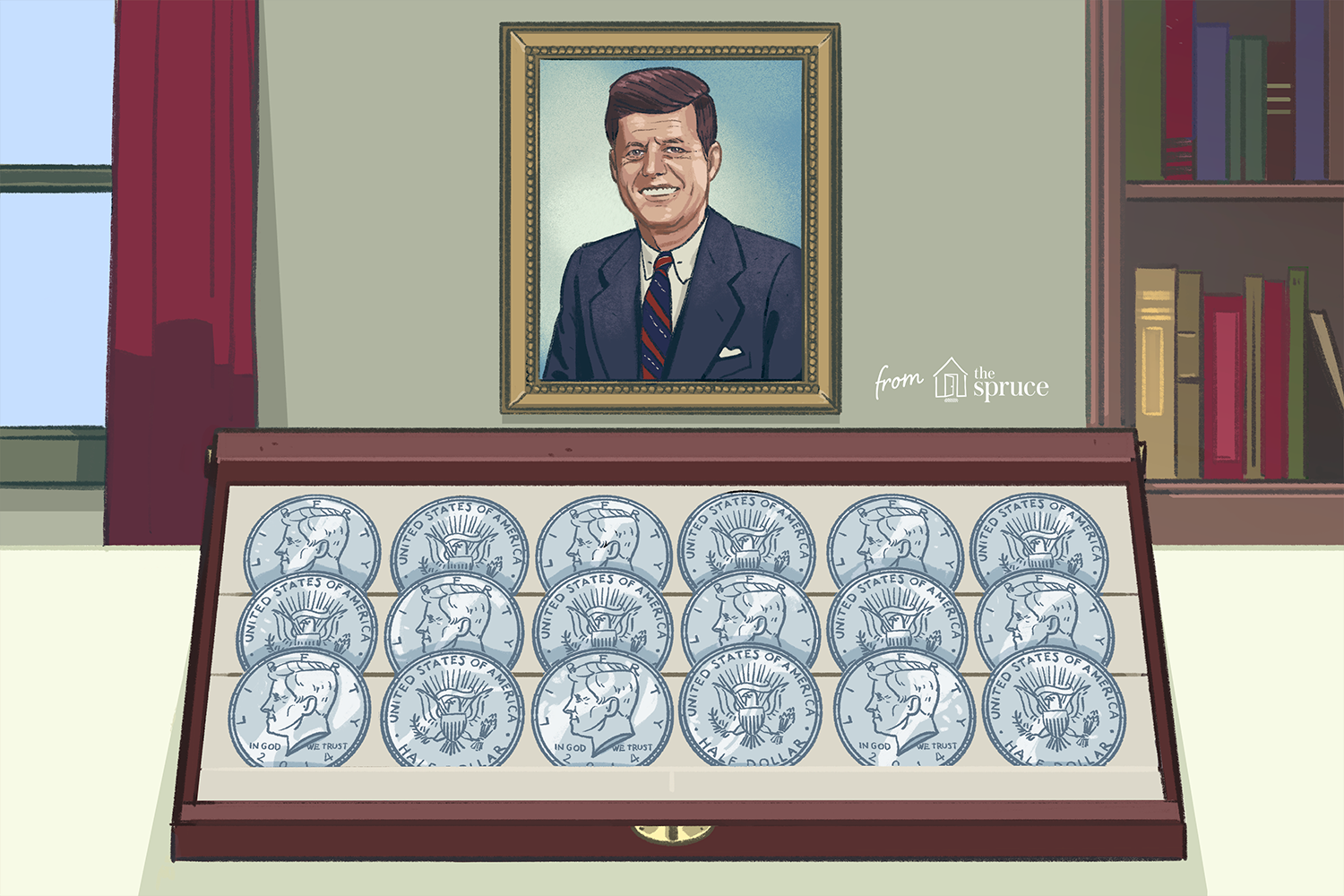 1964, 40/%, Clad, Dollar Kennedy Collection