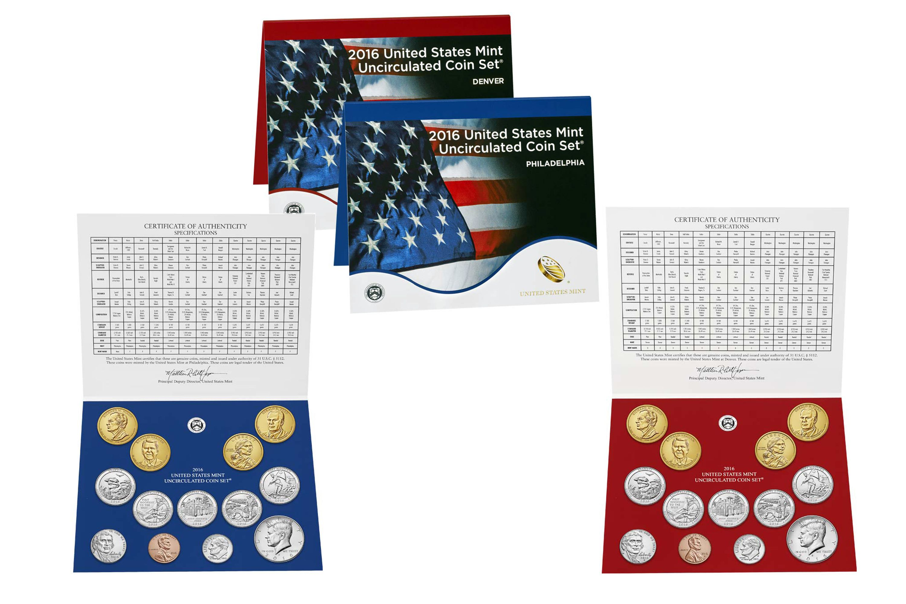 2016 United States Mint Uncirculated Coin Sets