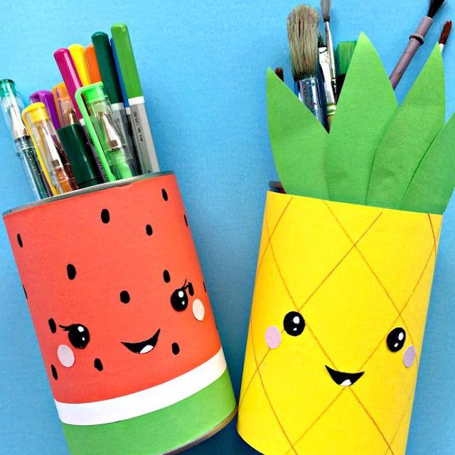 Summer Fruit Pencil Holders