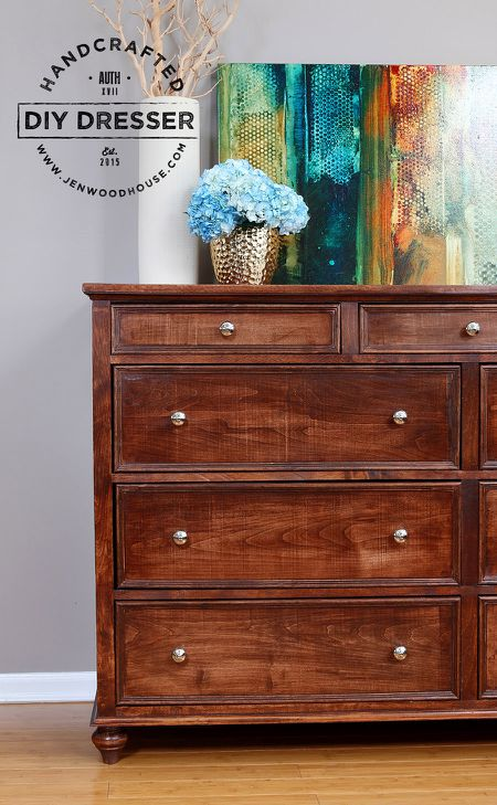 A DIY 11 Drawer Dresser