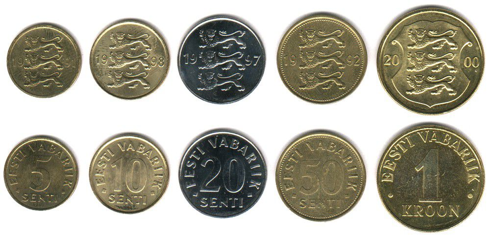 These coins are currently circulating in Estonia as money.